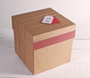 Caja Cuadrada con Decoración | Cajas de Cartón Regular - Cartón S.A.